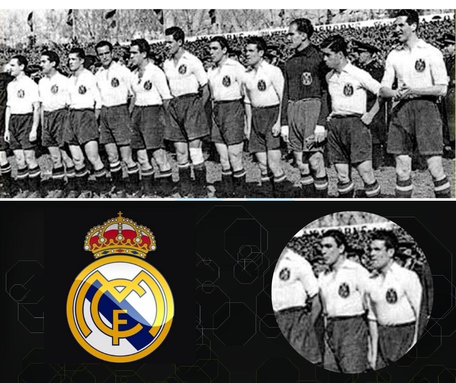 Selección española de fútbol antes del partido contra Francia en Sevilla, 15.03.1942