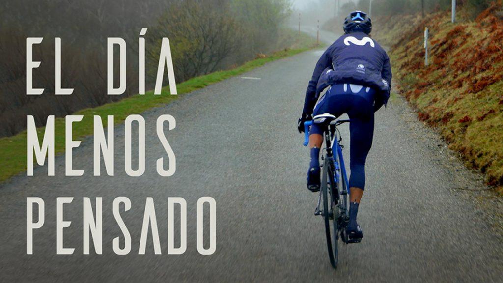 """Poster promocional de """"El día menos pensado"""". Un viaje con Movistar Team."""